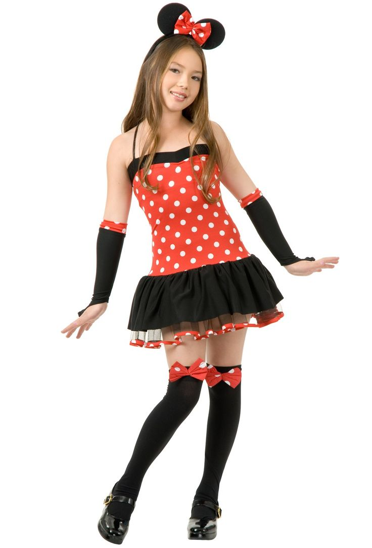 preteen in stockings minnie mouse costumes   Girl's Minnie Mouse Dress Costume   Fierce Costumes