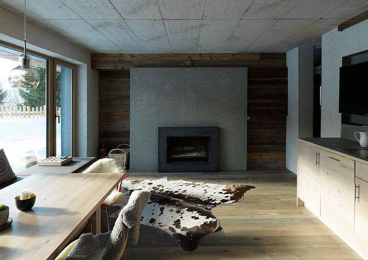 Интерьер дома в Австрии. Материал: FibreC concrete skin www.profasad.ru/fibrec/ #profasad #профасад #фибробетон #fibrec