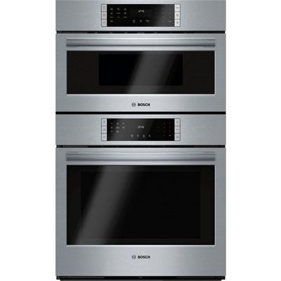 Bosch 30-in Self-Cleaning Convection Speed Microwave Wall Oven Combo (Stainless Steel)