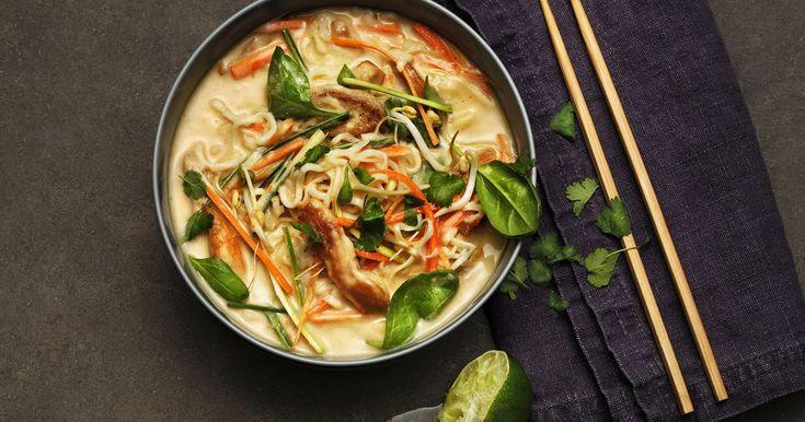 Tom Kha supp kanaliha ja köögiviljadega | Santa Maria retsept