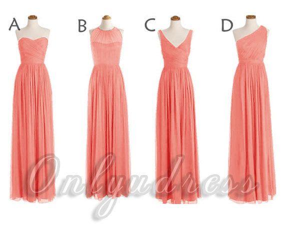 Custom Made Navy Blue Bridesmaid Dress,Drak Blue Cheap Long Bridesmaid Dress,Off…
