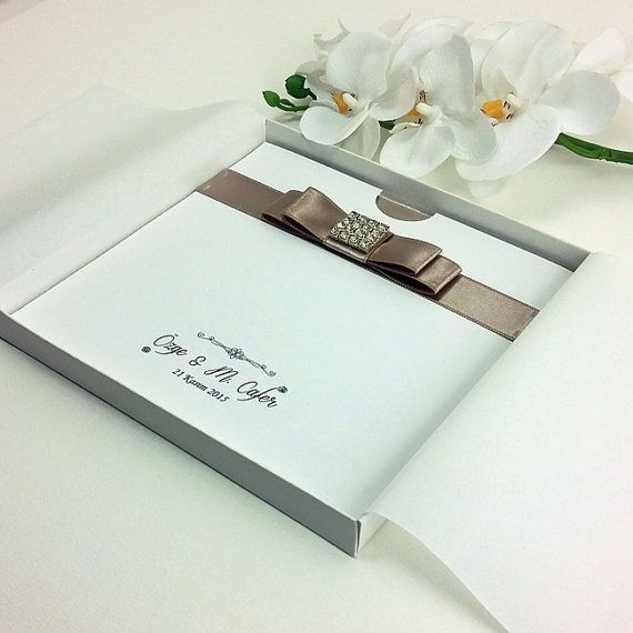 Luxury Boxed Wedding Invitation 25 Card Invite by Beyazfikirler