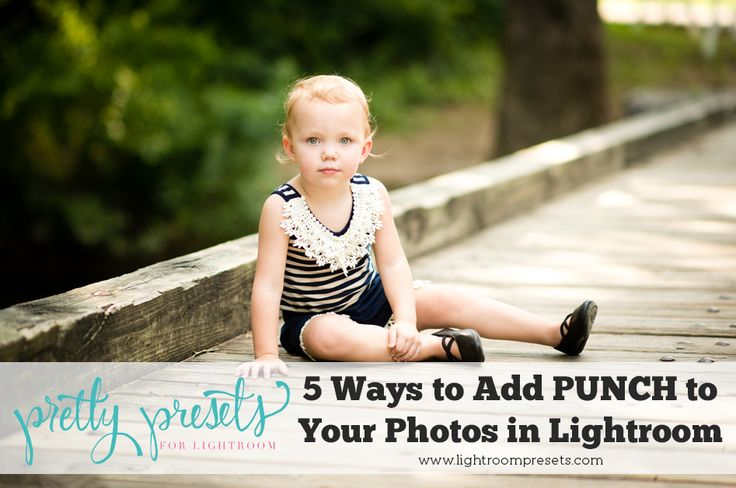 """RAW files come out of the camera a little flat and lackluster. Adding a little bit of """"punch"""" or """"pop"""" to your photos is something that almost all RAW photos need. Here are the top 5 ways to get your images looking bright and lovely in a just a few clicks! Add Contrast"""