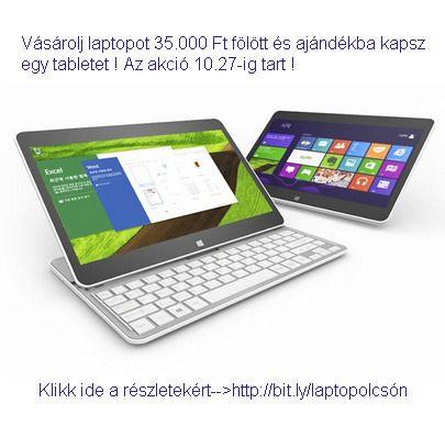 https://flic.kr/p/zHBjuw | Laptop olcsón | Októberi akció ! Akciós #laptop+ajándék #tablet 10.27-ig ! Klikk ide a részletekért--->http://bit.ly/laptopolcsón