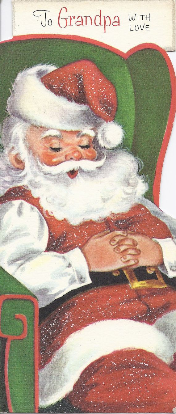 C439 Vintage Christmas Greeting Card - by Gibson - to Aunt and Uncle