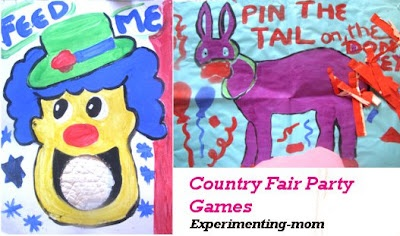 Country fair games you can make at home for kids birthday party