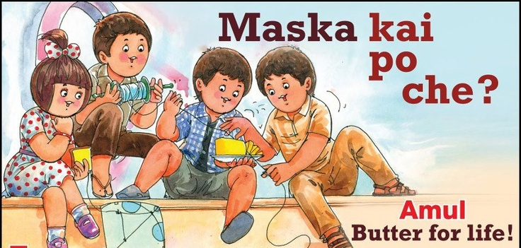 Check out Amul's utterly butterly take on Kai Po Che!