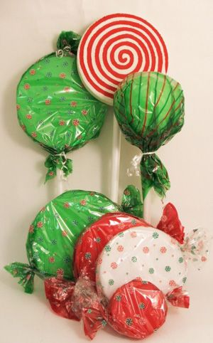 Jumbo Wrapped Candies and Lollipop Decorations