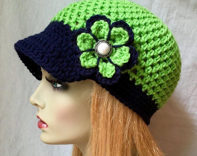 Mejores 55 imágenes de Gorras en Pinterest | Sombreros de ganchillo ...