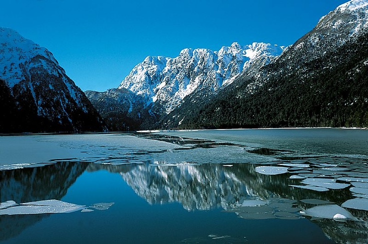 Los Andes mountains and Nahuel Huapi lake, San Carlos De Bariloche, Argentina
