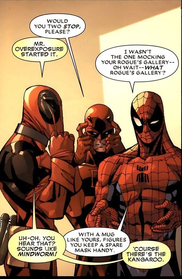 Quotes from Deadpool comics The endless banter between Deadpool and Spiderman...never gets old!!