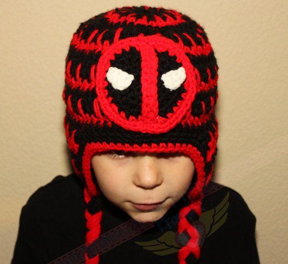 Deadpool crochet beanie  9f0c12a591e