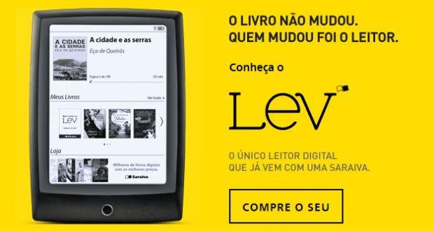 Saraiva lança o Leitor de #Ebooks Lev