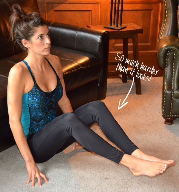 Here's a quick core workout you can do while watching Netflix on your couch!