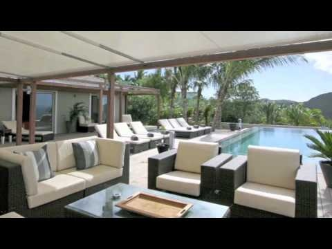Villa Camaruche- St Barth. An amazing four bedroom luxury villa located on the tranquil hillside of Camaruche with expansive views including sunset. Available for weekly rental with St Barth Properties. www.stbarth.com/...