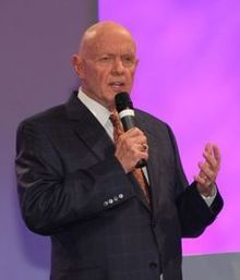 Dr Steven Covey, Motivational Speaker, died at age 79.  He will be sorely missed by businessmen, family and friends including the many people whose lives have been transformed by his writings.