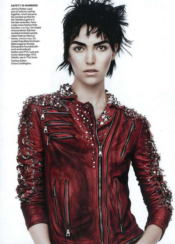 Edgy Punk Editorials - Beha Erichsen and Arizona Muse Rock Out in Vogue US March 2011 (GALLERY)