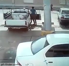 Natural gas-powered car explodes | Gif Finder – Find and Share funny animated gifs