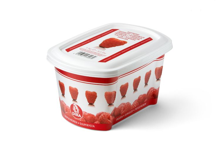 Kατεψυγμένος πουρές raspberry της εταιρίας DIRA από την Granikal.#granikal #dira #frozenfruitpuree
