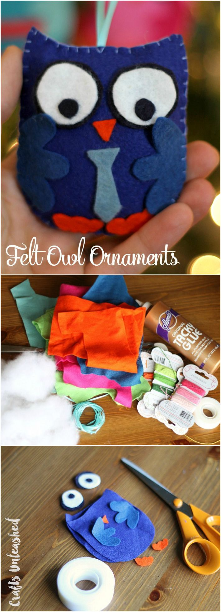 Design your own christmas ornaments - Diy Owl Ornaments Free Template Crafts Unleashed