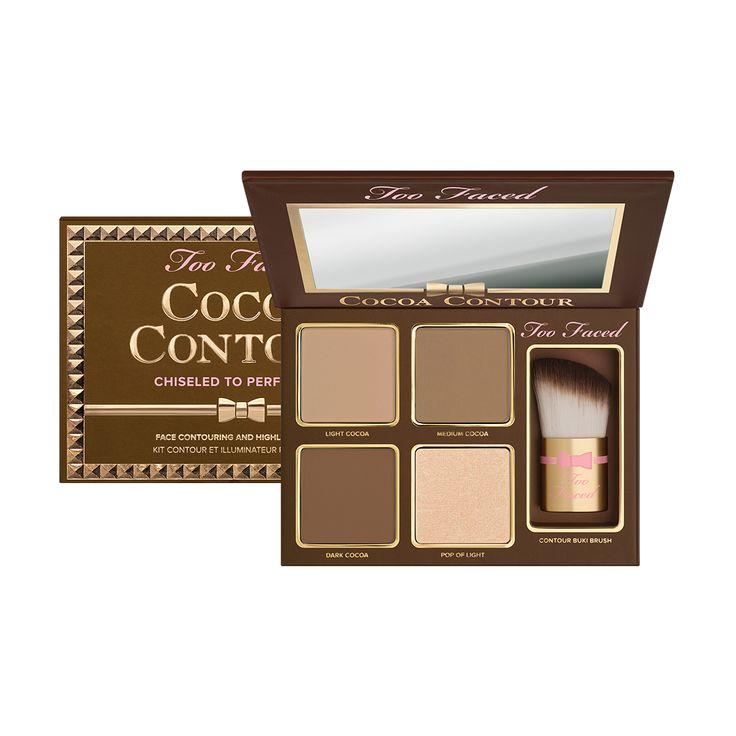 Cocoa Contour Makeup Palette - Too Faced ♡♡ this looks so cute!! I want it! I know its new, but if anyone has tried this please message me and let me know what you think!!! :)
