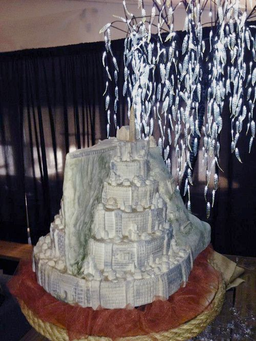 Minas Tirith Cake From Beginning To Happily Ever After The Cake Geek