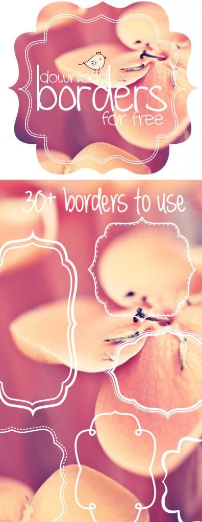 Free borders and bracket frames to download