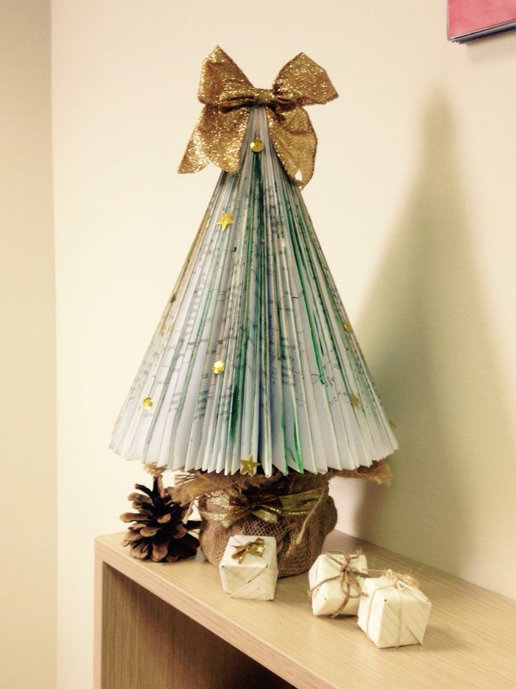 Christmas paper tree for my office# by MairyGoudo