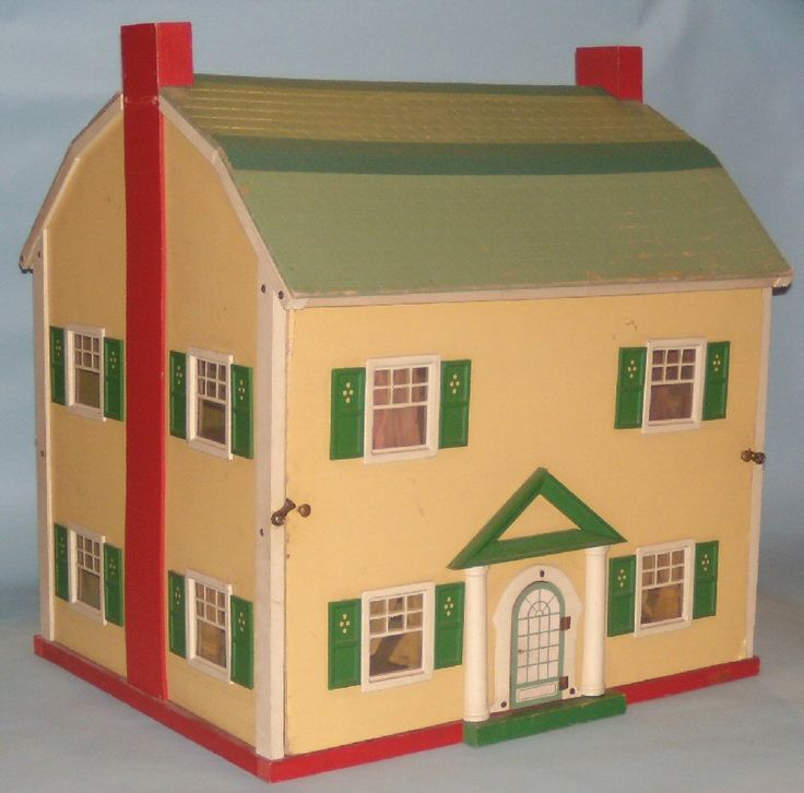 "Vintage dollhouse by Macris of Ohio - ""Dolly Ann Dollhouse"" (ca. 1930) 