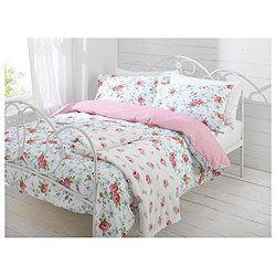 Tesco Ditsy Floral Duvet Set Pink Single Uni Dorm