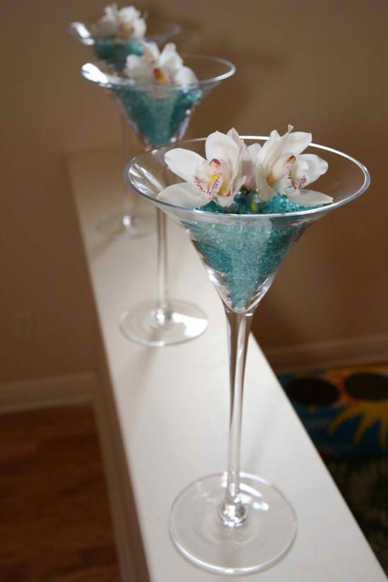 Best images about martini glass centrepiece on