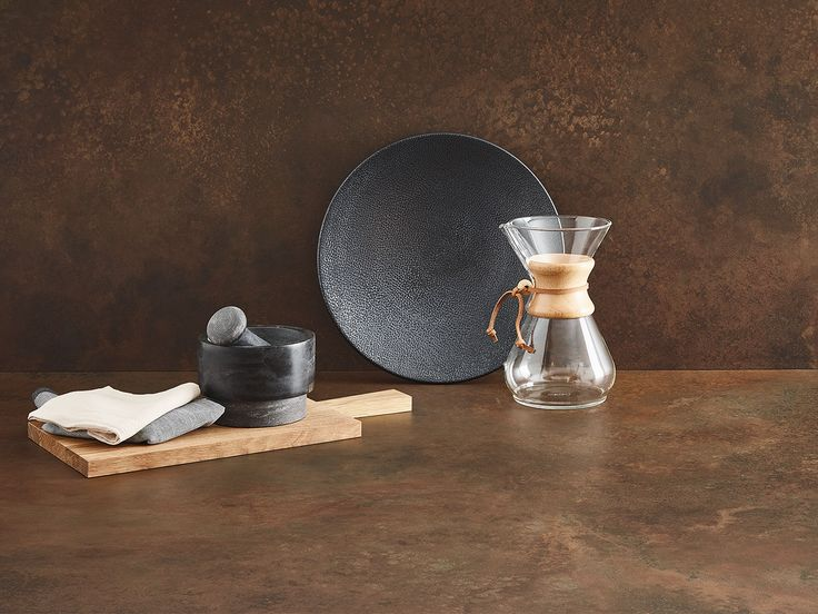 #neu: #keramik 12mm mit dem #Dekor #Ossido ist ein vielseitiges und robstes Material in der #Küche und wirkt durch seine schlanke Erscheinung als #Arbeitsplatte und #Rückwand richtig #edel
