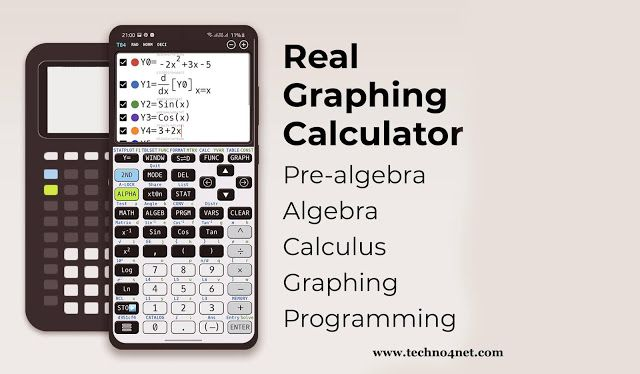 تنزيل تطبيق الآلة الحاسبة العلمية للرسوم البيانية Graphing Calculator Plus 84 Graph Emulator Free 83 Premium للأندرويد Calculus Calculator Graphing Calculator