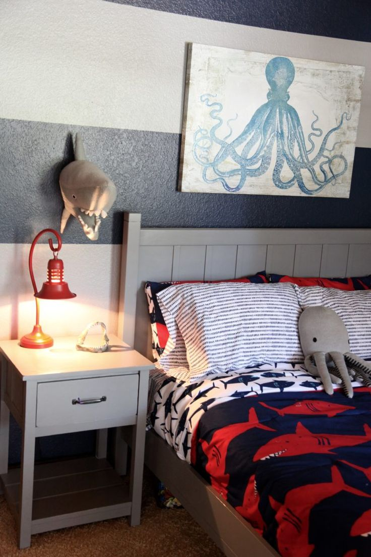 Nice Our Inspiration For Jacku0027s Shark Themed Boyu0027s Room Came From Browsing The  Aisles Of Target.