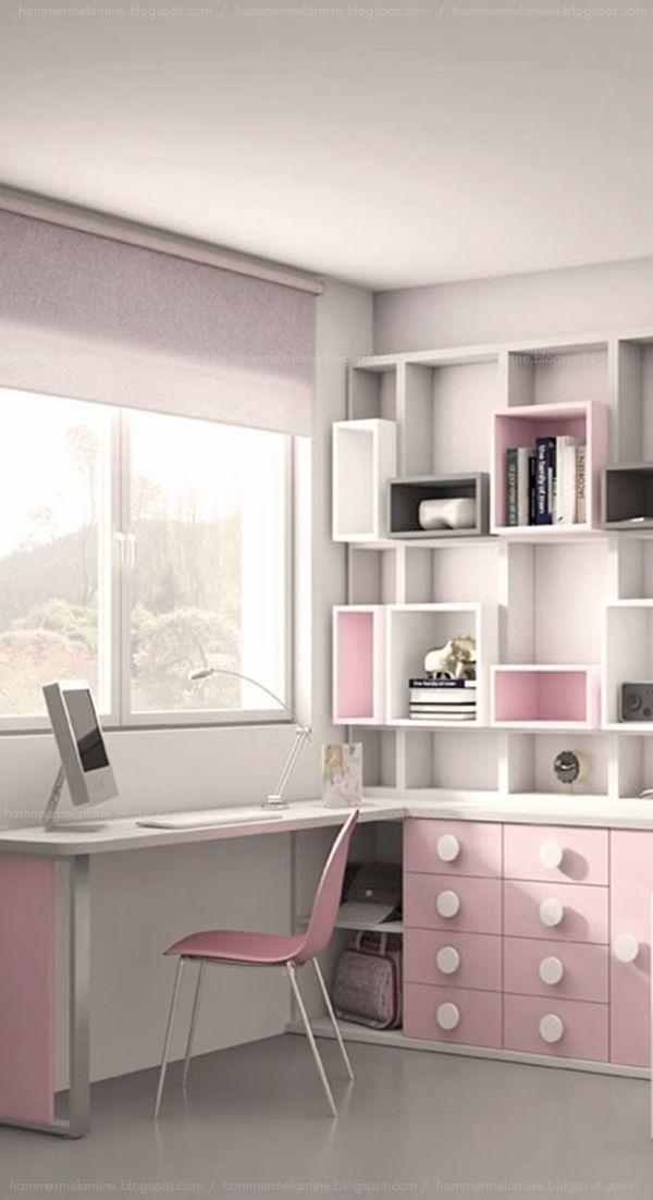 Mueble Melamina Color Blanco Y Rosa Con Estanteria Super