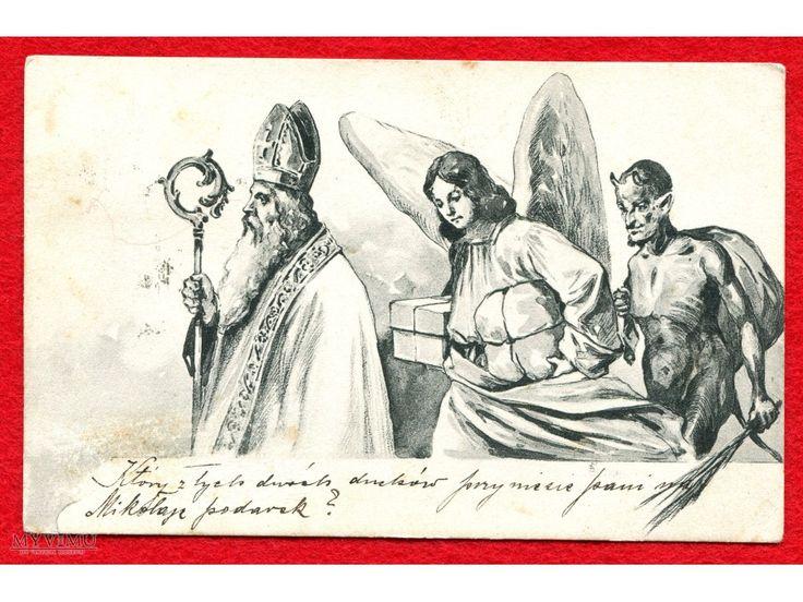 1904 Święty Mikołaj Diabeł Święta zabór austriacki