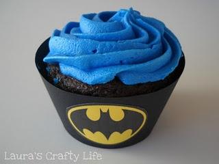 Batman cupcake liners