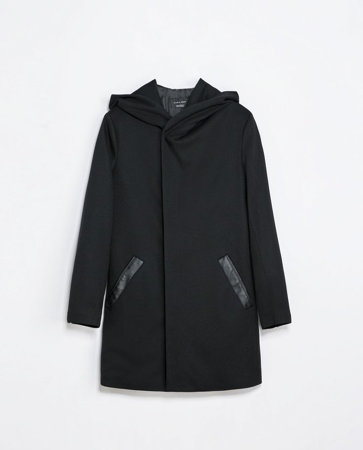Zara COAT WITH HOOD  Ref. 3251/301  139.00 CAD               OUTER SHELL  100% POLYESTER  LINING  100% POLYESTER