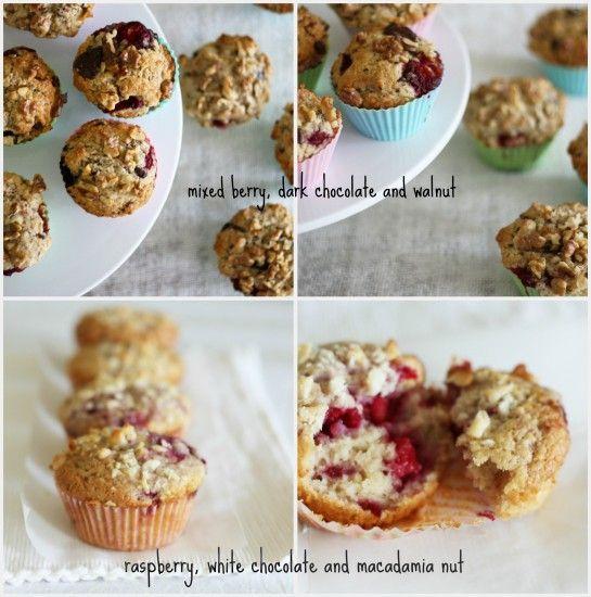 Berry Chocolate Muffins Recipe — Dishmaps