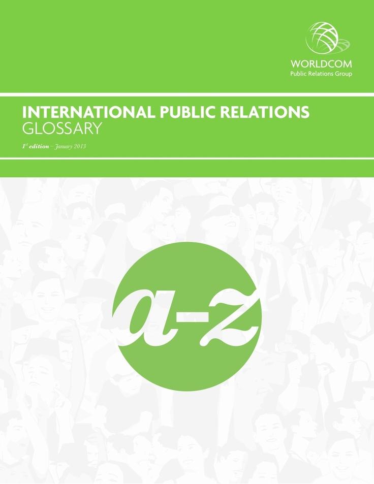 worldcom-releases-international-public-relations-eglossary by CommPRO.biz via Slideshare