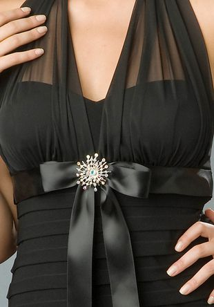 Easy way to fix a strapless dress!