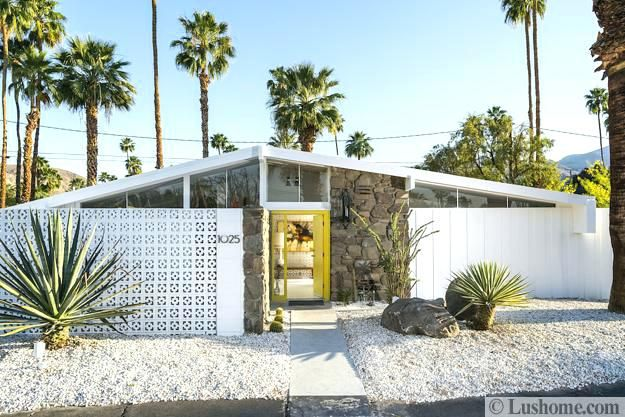 Modern Mid Century Homes Mid Century Modern Home With Screen Block