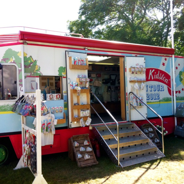 Cath Kidston Touring Bus at Camp Bestival - lucky it's not coming to any festival I've been to!