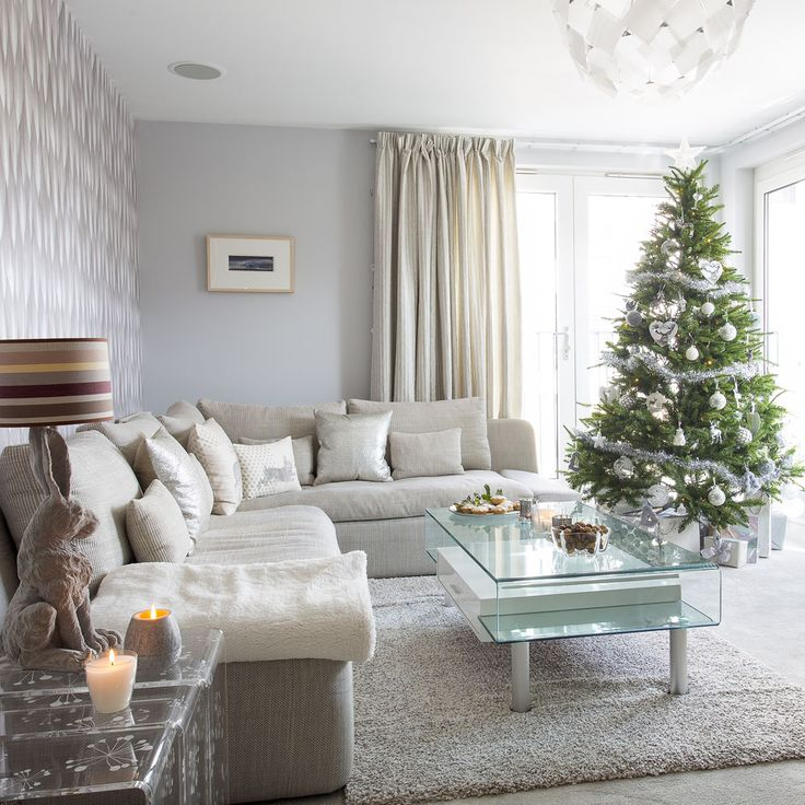 54 best Christmas Living Rooms images on Pinterest | Christmas ...