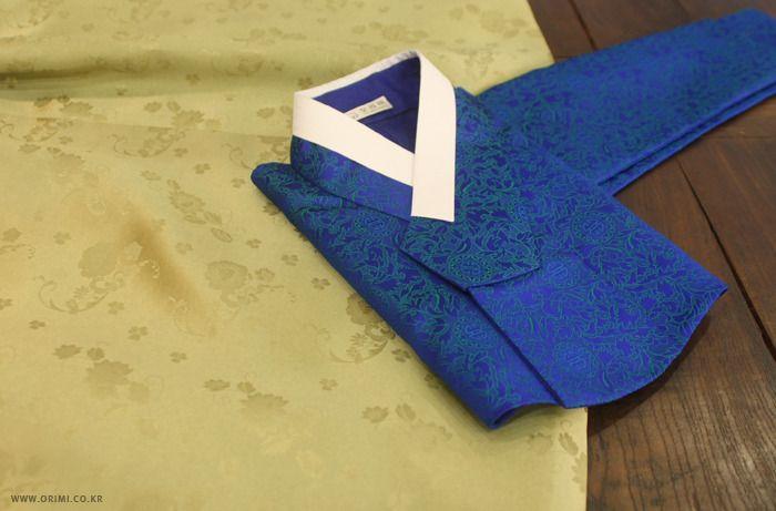 오리미한복 :: 신비롭고 고고한 분위기를 담은 파랑 저고리