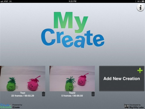My Create - a great iPad app for making stop motion animation stories