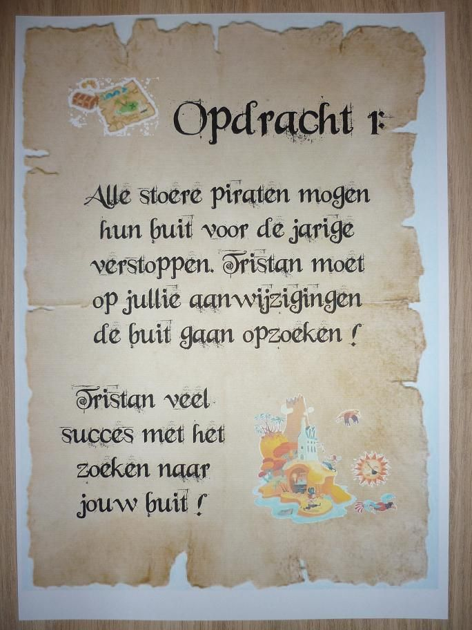 Piratentocht, Opdracht 1. -CE-