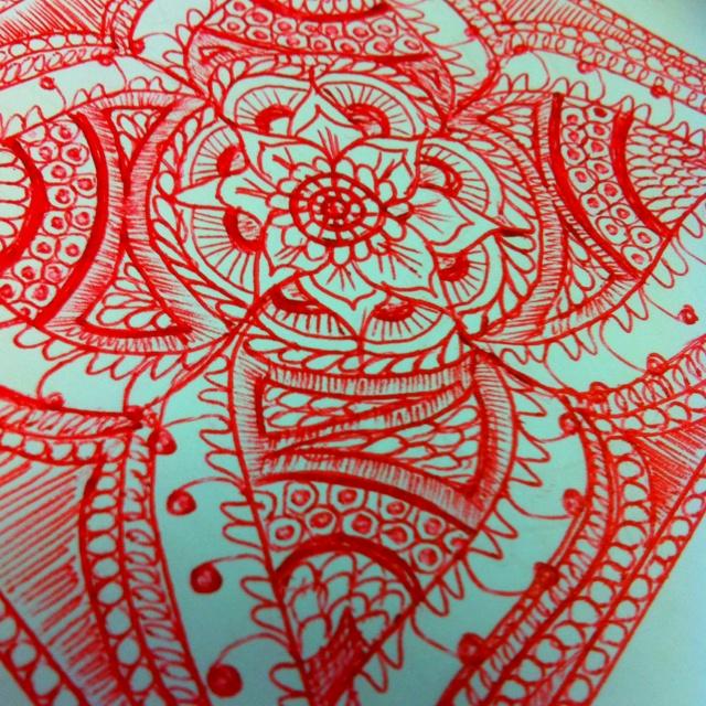 Mehndi doodle of mine
