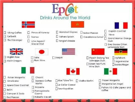 EPCOT Drinks Around the World!