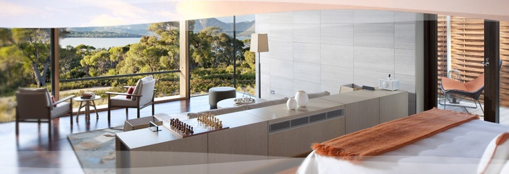 Please god let me win the lottery and then go on holiday here....Tasmania, Australia, Interiors Design, Cleaning Design, Saffire Freycinet, National Parks, Home Decor, Travel, Hotels